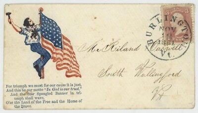 Mr Fancy Cancel 65 CIVIL WAR PATRIOTIC MR HART ON FLAG WITH UNLISTED VERSE