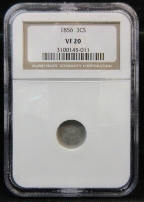 1856 Three Cent Silver VF20 by NGC