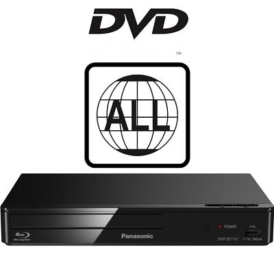 Panasonic DMP-BDT167EB Smart Blu-ray Player DMP-BDT167EB-K MultiRegion For DVD