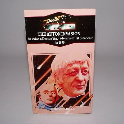 Doctor Who The Auton Invasion Rare Virgin Blue Spine Target Novel Book 3rd Dr