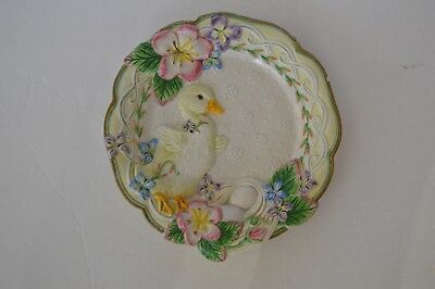Fitz and Floyd classic decorative plate yellow duck Easter