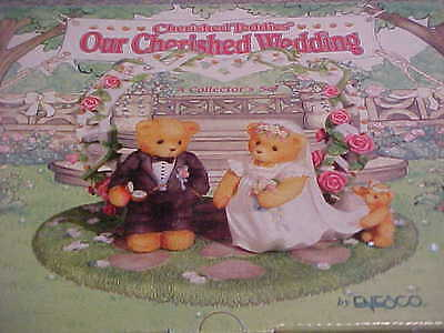 Cherished Teddies Our Cherished Wedding 510254 Bride & Groom New Cake Topper