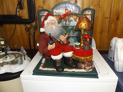 Trim A Home Animated Santa By Bay Window Relaxing