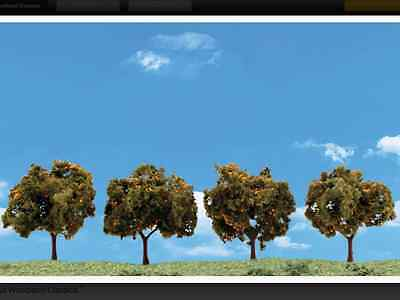 "Woodland Scenics N, HO, or O Scale Orange Trees  2-3""  4 Pack  Item # TR3592 F/S"
