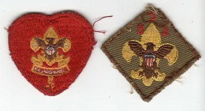 2 Vintage BOY SCOUTS Small BSA Patches