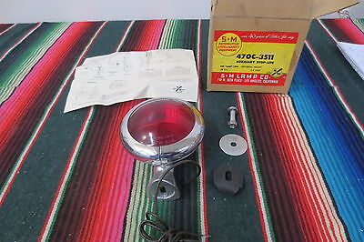 VINTAGE NOS S&M 470C RED STOP GLASS LENS Lamp Light Motorcycle DODGE FORD CHEVY
