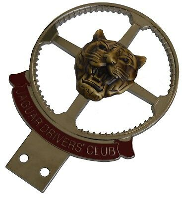 Jaguar Drivers Club car grille badge