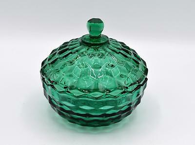 Vintage Indiana American Whitehall Teal Blue/Green Glass Candy Dish