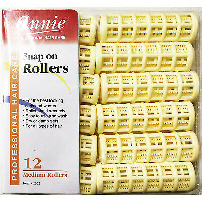 """Annie Snap On Rollers #1002, 12 Count Yellow Medium 3/4"""""""