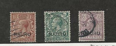 Nauru, Postage Stamp, #3, 8, 10 Used, 1916-1923
