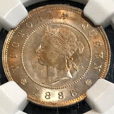1888 Jamaica 1/4P NGC MS63 Gorgeous Shimmering Tone and Luster CHN