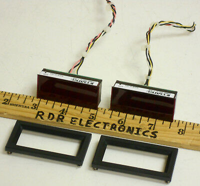 Lot of 2-Datel muRata DMS-30PC-1-RS 3.5-digit ±2V DC Red LED Digital Panel Meter