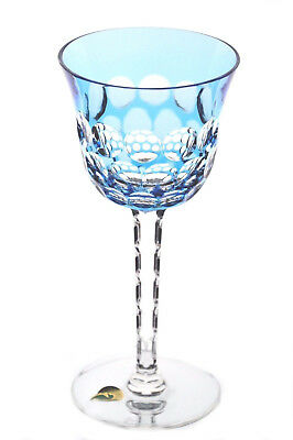 Waterford Simply Blue Azure Cased Cut to Clear Crystal Wine Water Goblet New