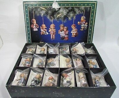 Lot of 30 Goebel Aberta Hummel Christmas Ornaments in Original Box