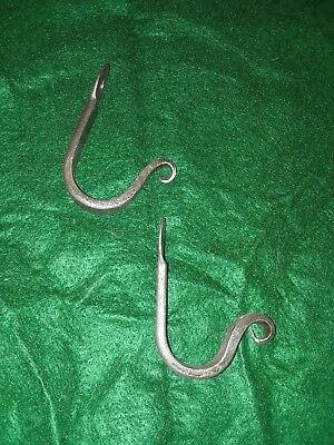 Two hand Forged Iron hanging hooks
