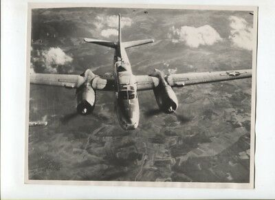 N°5030 /  photo d'epoque bombardier Air Force A-26  1945