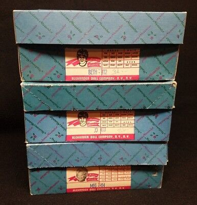 madame alexander 8 inch doll lot with boxes