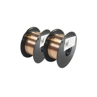 2 X ERCuSi-A .030 X 2 lb Spool Silicon Bronze copper welding wire (2 reels)