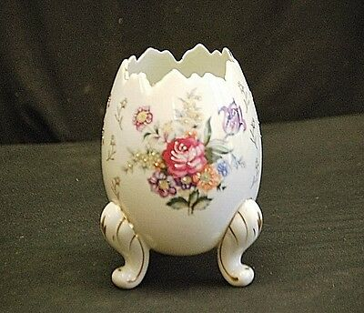 Old Vintage Napco Porcelain Easter 3 Footed Egg Shape Planter Vase Japan MCM