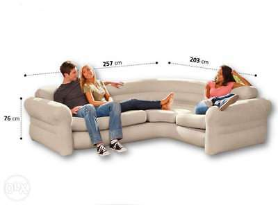 Sectional Couch Corner Comfort Inflatable Air Sofa Living Room Decor  Furniture