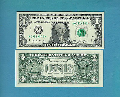 "2013 (DC)  $1 Boston ""A"" star note -  CH-UNC   2nd Print"