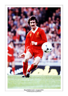 Terry Mcdermott Liverpool 1978 European Cup Winners Photo A4 Photo Print