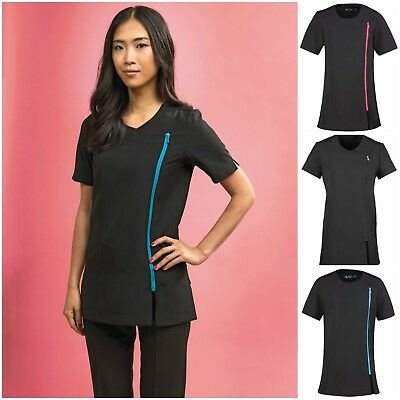 Spa Beauty Stretch Tunic Salon Beautician Massage Therapist Hairdressing Uniform