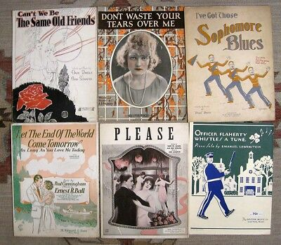 Lot 80: 45 Pcs 1920s POP SHEET MUSIC: Art Deco Lovely Ladies Great Cover Art
