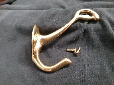 Coat Hat Hall Hook - Solid Brass