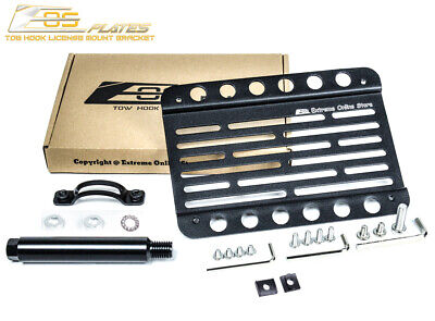 EOS Plate For 14-16 BMW M235i W// PDC Front Bumper Tow Hook License Mount Bracket