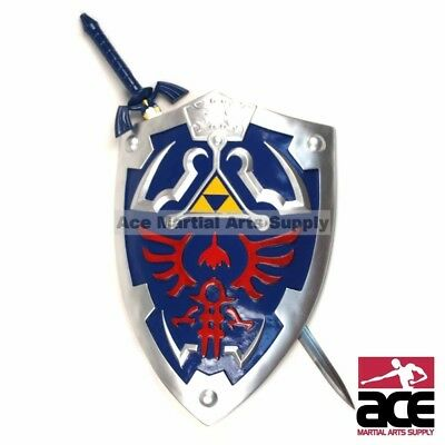 LEGEND OF ZELDA FULL SIZE MASTER SWORD HYLIAN SHIELD SET OCARINA OF TIME Link