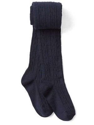Gap Kids Girl Cable Knit Sweater Tights Navy Blue Size S / Small 5-7 Years NWT