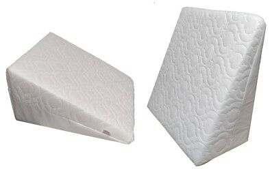 Multi Purpose Back Support Pain Relief Wedge Pillow cushion Quilted Orthopaedic