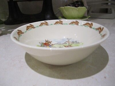 Bunnykins Child's cereal/pudding  bowl Royal Doulton Fine Bone China