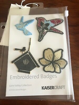 Kaisercraft Loire Valley Collection Embroidered Badges - Brand New
