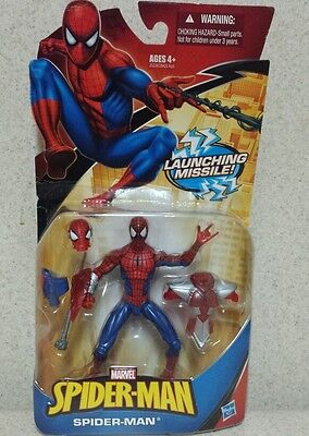 launching missile spiderman action figure