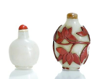 Two Chinese  Glass Snuff Bottles