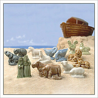 Wade Noah's Ark Series 2002-2006  Lot of 20 Figurines  Extra Sheep and Zebras