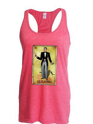 f42851c8f5 El Catrin Man Loteria Mexican Game Cards Fun Womens Tops Next Level  Racerback