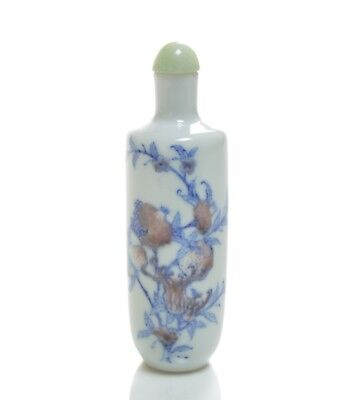 A Chinese Blue and White Snuff Bottle