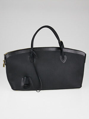 Louis Vuitton Limited Edition Black Calfskin Leather Cuir Obsession East-West  Lo 64d8d86aa7b55