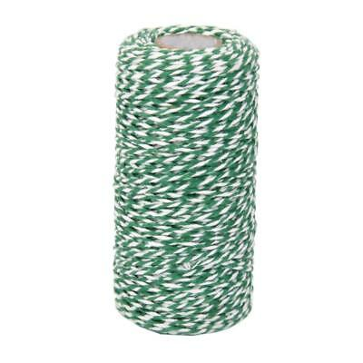 100M Twisted Cotton Twine String Bird Cat Toy Craft Gift Wrap Cord ArmyGreen