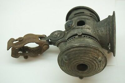 Antique Bicycle Lamp Search Light Bridgeport Brass Kerosene Bike Motorcycle Old