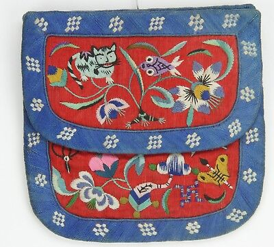 A Chinese Silk Embroidery Wallet