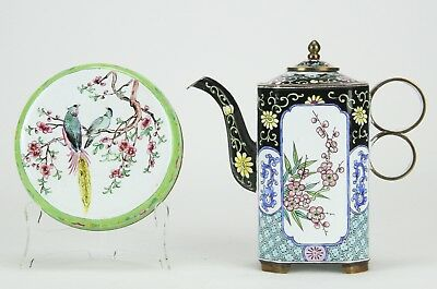 Chinese Enamel Box and Teapot