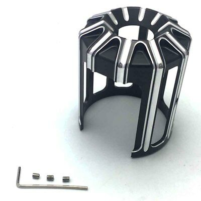 Black CNC Deep Cut Oil Filter Cover For Harley Touring Softail Dyna CVO Fatboy