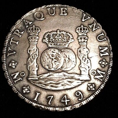 1749 Spanish Colonial Mexico City 8 reales coin Ferdinand VI 1749 (S3)