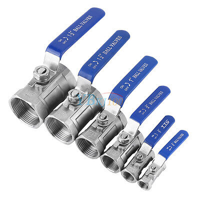 "1/4"" 3/8"" 3/4"" 1"" 1-1/4"" 1-1/2"" BSP Ball Valve SS 304 WOG1000 Threaded Durable"