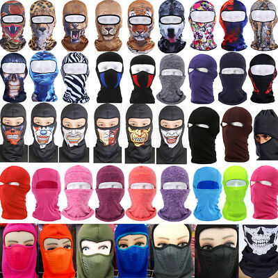 6 in 1 Winter warmer Fleece Unisex scarf BLACK Hood Balaclava Neck Face Mask Lot