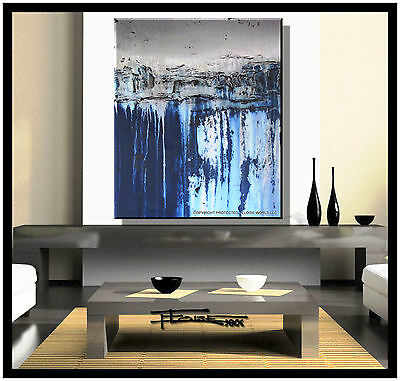 Large Abstract Painting MODERN CANVAS WALL ART USA Framed Textured  ELOISExxx